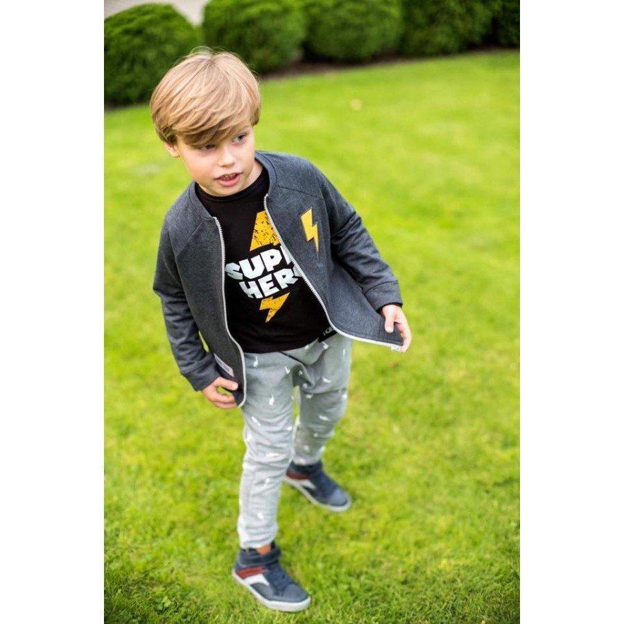 Holo Kids- Koszulka Super Hero Czarna 92/98 cm | Esy Floresy
