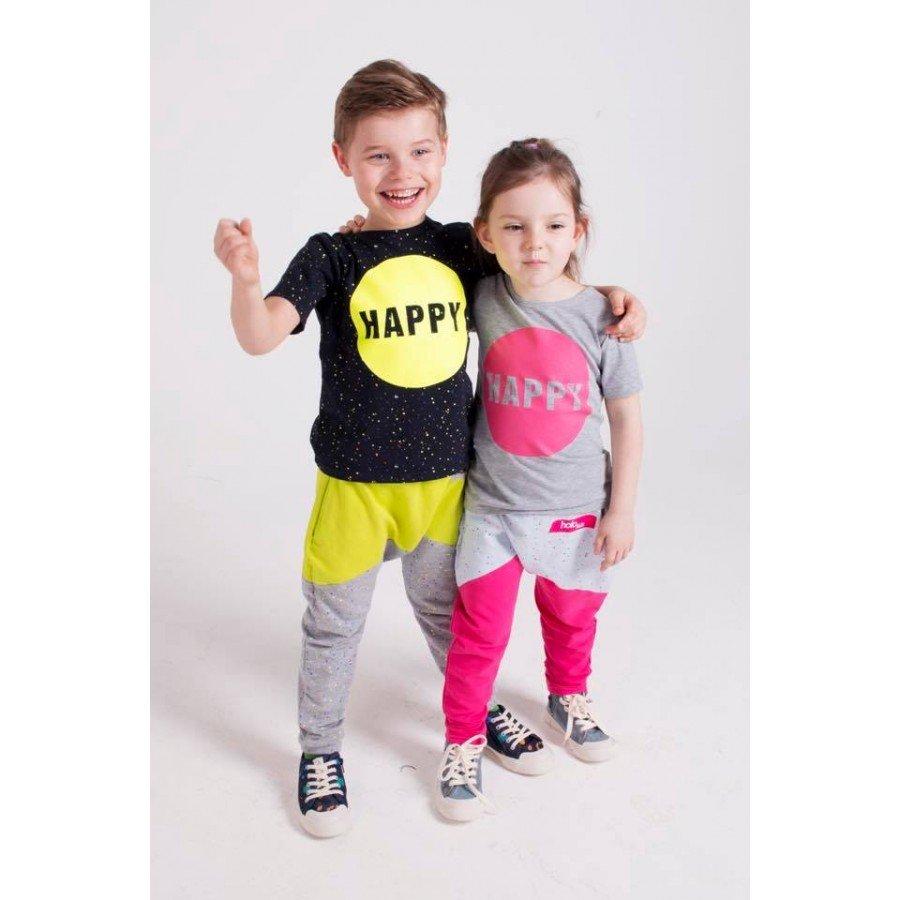 Holo Kids- Różowo/Szare Spodnie Kropki | Esy Floresy
