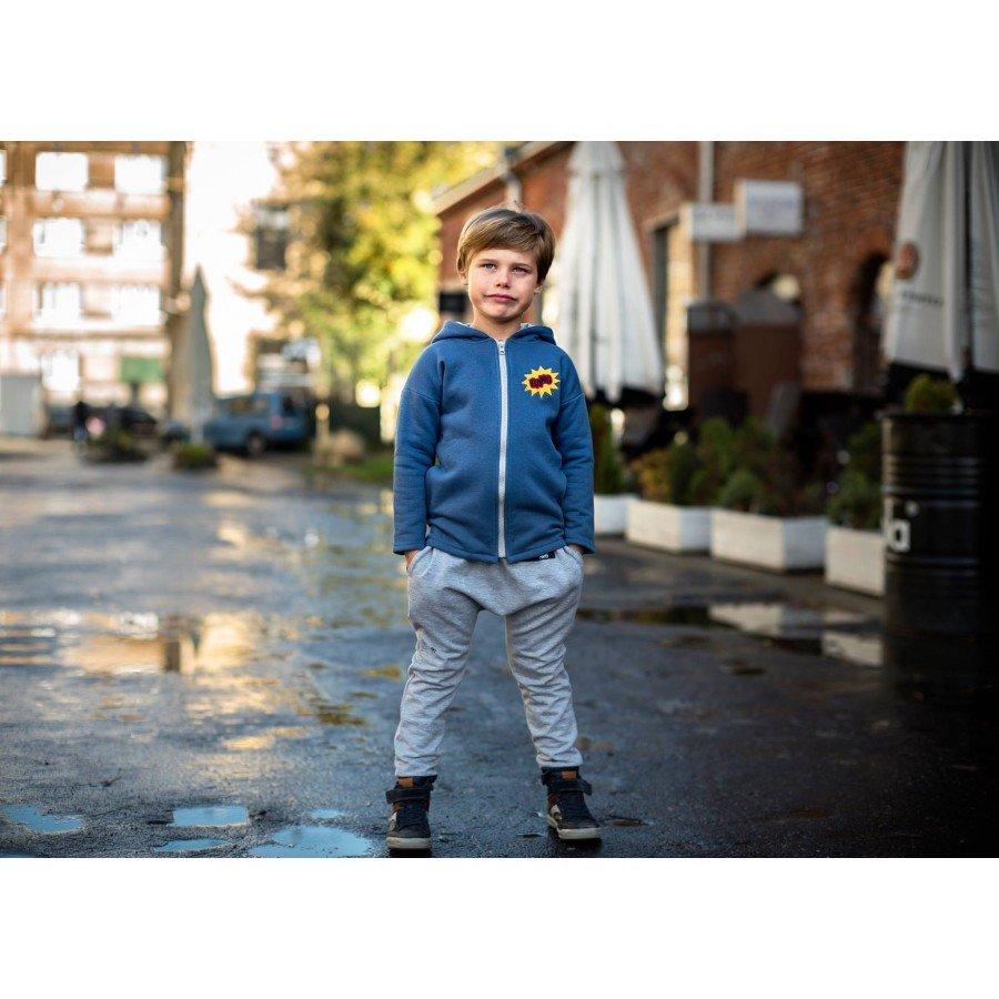 Holo Kids- Spodnie Ocieplane Szare | Esy Floresy