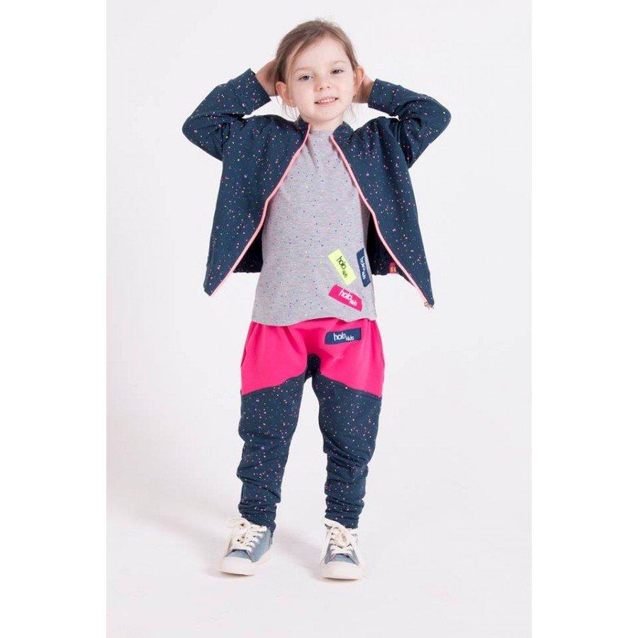 Holo Kids- Różowo/Szare Spodnie Kropki - Esy Floresy