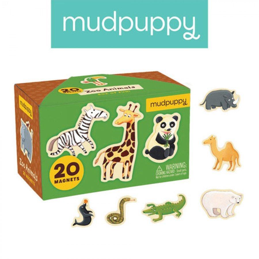 Mudpuppy Zestaw magnesów Zwierzęta z zoo 20 elementów | Esy Floresy