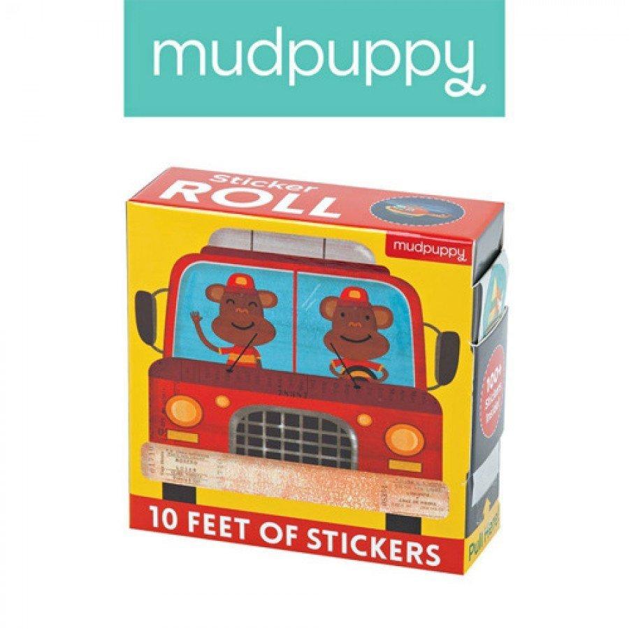 Mudpuppy - Naklejki na rolce Pojazdy 100 szt. | Esy Floresy
