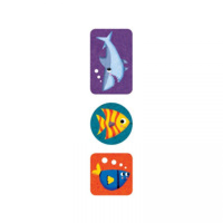 Mudpuppy - Naklejki na rolce Podwodny świat 100 szt. - Esy Floresy