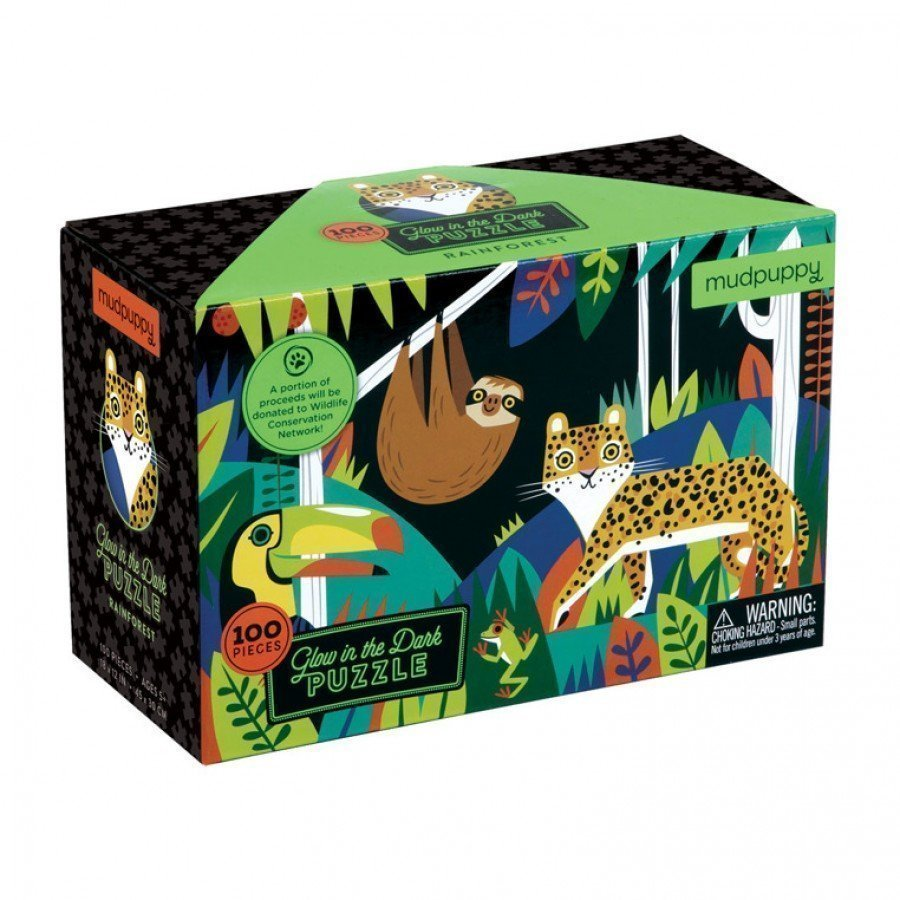Mudpuppy - Puzzle świecące w ciemności Las Tropikalny 100 el. | Esy Floresy