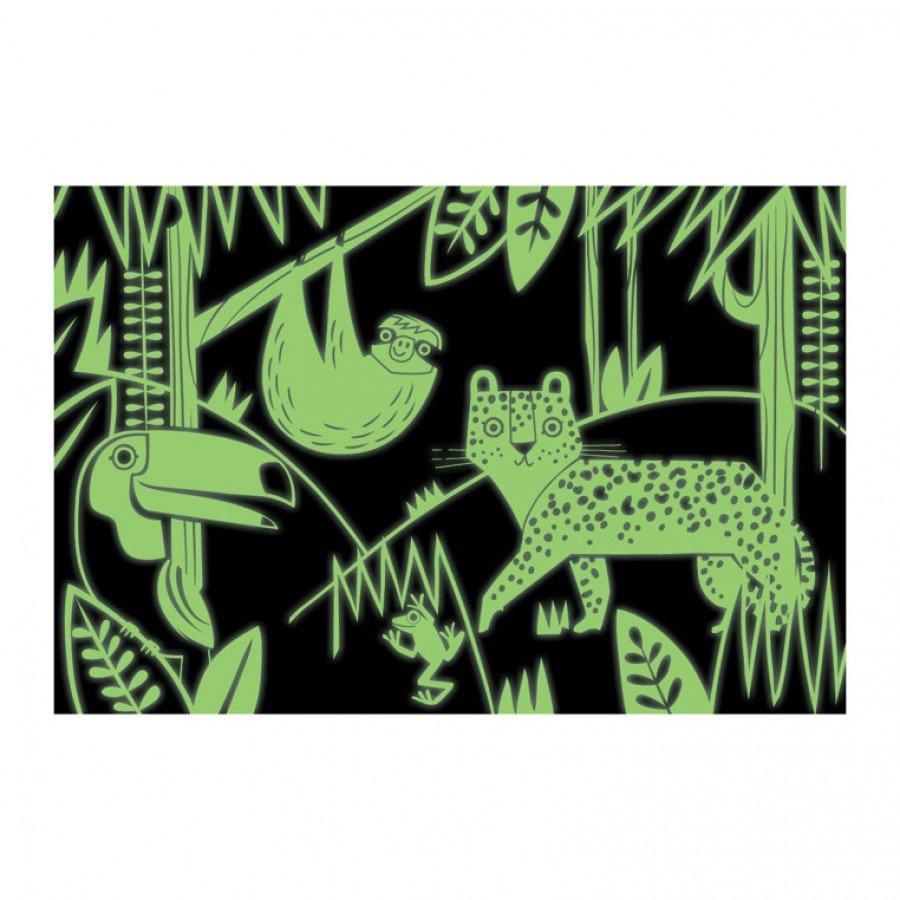 Mudpuppy - Puzzle świecące w ciemności Las Tropikalny 100 el. - Esy Floresy