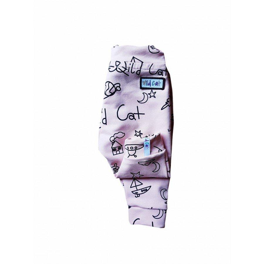 Wild Cat - Spodnie Róż Rysunki | Esy Floresy