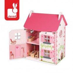 Janod - Domek dla lalek z 11 meblami | Esy Floresy