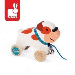 Janod - Piesek drewniany do ciągnięcia Bulldog | Esy Floresy