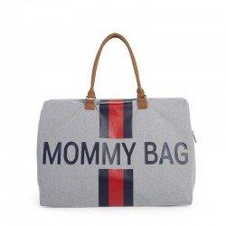 Childhome - Torba Podróżna Mommy Bag paski granatowo-czerwone | Esy Floresy