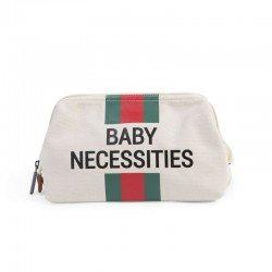 Childhome - Kosmetyczka Baby Necessities paski zielono-czerwone  | Esy Floresy