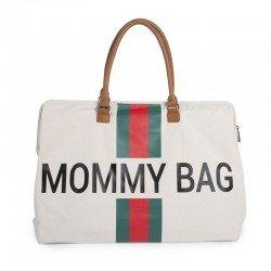 Childhome - Torba Podróżna Mommy Bag paski zielono-czerwone | Esy Floresy