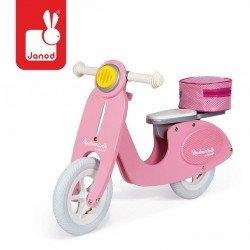 Janod - Rowerek biegowy różowy Scooter Mademoiselle | Esy Floresy