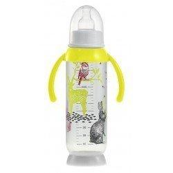 Beaba - Butelka antykolkowa z uchwytem 330ml Bunny yellow | Esy Floresy