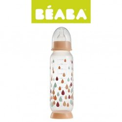 Beaba - Butelka antykolkowa 330 ml Rainbow nude   Esy Floresy