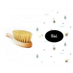 Lullalove Szczotka na ciemieniuchę z myjką Miód | Esy Floresy