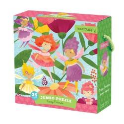 Mudpuppy - Puzzle podłogowe Jumbo Wróżki 25 elementów 2+ | Esy Floresy
