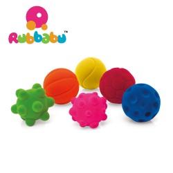 Rubbabu - Zestaw 6 sensorycznych piłek mini  | Esy Floresy