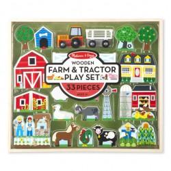 Melissa & Doug Drewniany zestaw zabawek i ciągników | Esy Floresy