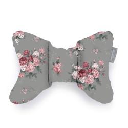 Beztroska - Poduszka Motylek Różany ogród szary  | Esy Floresy