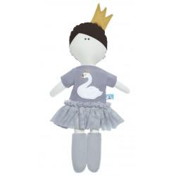MytinyHobby - Lalka Księżniczka z szarej sukience z łabędziem | Esy Floresy