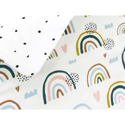 ZuMiZou - Komplet pościeli Junior - tęcza / kropeczki 100x135 / 40x60 .   Esy Floresy