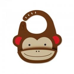 Skip Hop - Śliniak silikonowy Zoo Małpa | Esy Floresy