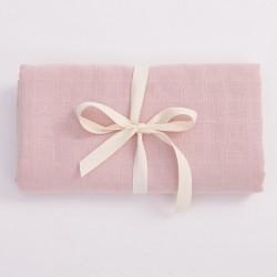 Bim Bla - Otulacz z bawełny organicznej - jasny różowy . | Esy Floresy