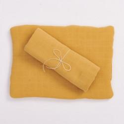 Bim Bla - Poduszka z bawełny organicznej Musztardowa | Esy Floresy