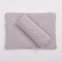 Bim Bla - Poduszka z bawełny organicznej Szara | Esy Floresy