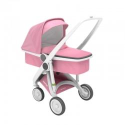 Greentom - Wózek Carrycot white-pink | Esy Floresy