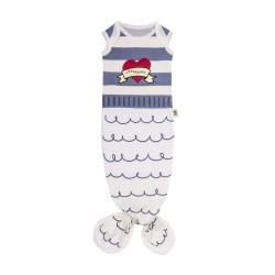 Baby Bites - Śpioszki Baby Gown Sailor (0-3 miesięcy) Blue | Esy Floresy