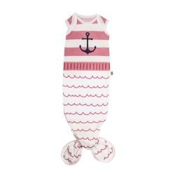 Baby Bites - Śpioszki Baby Gown Sailor (0-3 miesięcy) Pink | Esy Floresy