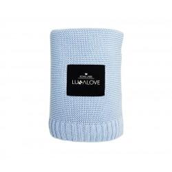 Lullalove - Koc bambusowy Baby blue 120x100cm .   Esy Floresy