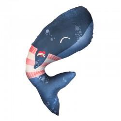 Baby Bites - Poduszka do karmienia Whale 100 x 55 cm Navy Blue | Esy Floresy