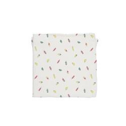 Baby Bites - Pieluszka muślinowa 120 x 120 cm Ice-creams White | Esy Floresy