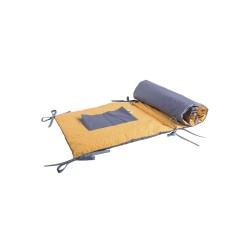 Baby Bites - Ochraniacz do łóżeczka 148 x 40 cm Shell Blue/Mustard | Esy Floresy