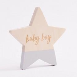 Bim Bla - Drewniana Gwiazdka Baby Boy Niebieska | Esy Floresy