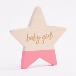 Bim Bla - Drewniana Gwiazdka Baby Girl Różowa | Esy Floresy