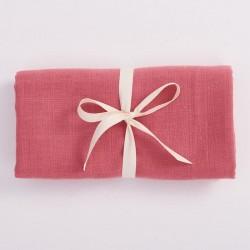 Bim Bla - Otulacz Muślinowy z bawełny organicznej Różowy | Esy Floresy