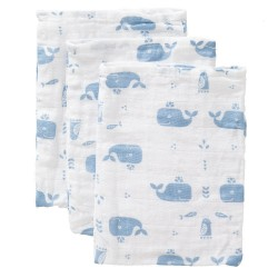 Fresk - Myjki zestaw 3 szt. Wieloryb Blue fog | Esy Floresy