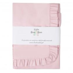 Bon Bon Kids - Pościel pudrowy róż z falbanką | Esy Floresy