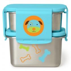 Skip Hop -  Stalowe pudełko śniadaniowe Pies | Esy Floresy
