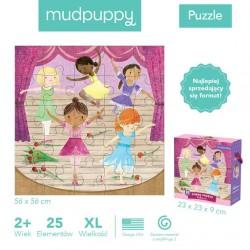 Mudpuppy - Puzzle podłogowe Jumbo Baletnice 25 elementów 2+   Esy Floresy