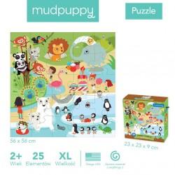Mudpuppy - Puzzle podłogowe Jumbo W ZOO 25 elementów 2+ | Esy Floresy
