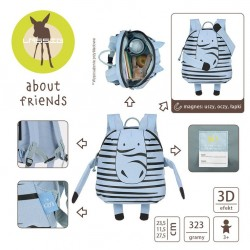 Lassig - Plecak About Friends z magnesami Zebra Kaya | Esy Floresy