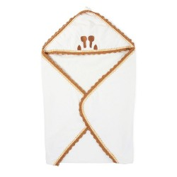 Childhome - Ręcznik z kapturkiem + myjka Jersey Crochet | Esy Floresy