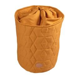 Filibabba - Zamykany pojemnik materiałowy na zabawki 42 x 35 x 35 cm Golden Mustard | Esy Floresy