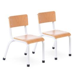 Childhome - Krzesełka dziecięce Natural White - 2 sztuki | Esy Floresy