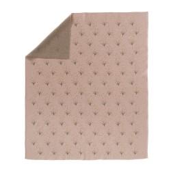Fresk - Letni tkany kocyk z bawełny organicznej 80 x 100 cm Dmuchawiec   Esy Floresy