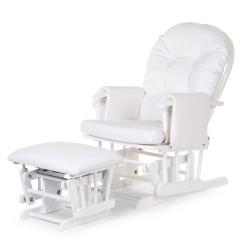 Childhome - Fotel pływający zaokrąglony z podnóżkiem White | Esy Floresy